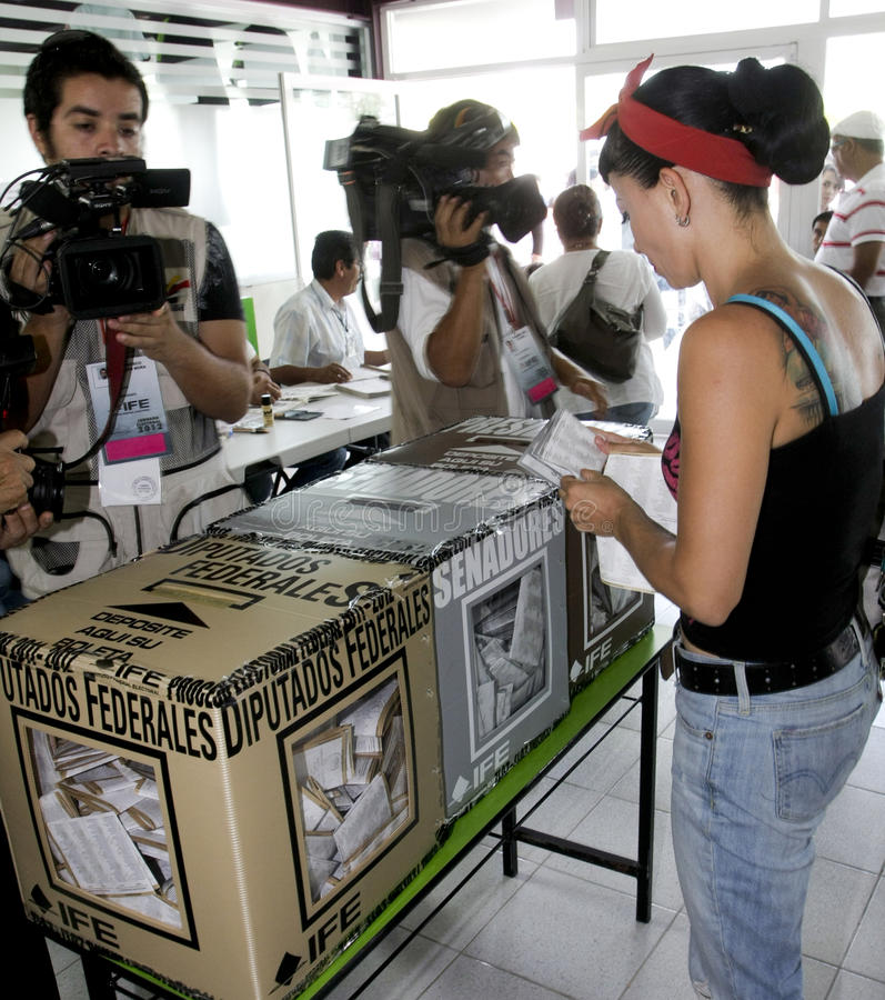 Download Elections in Mexico editorial stock image. Image of decision - 25540169
