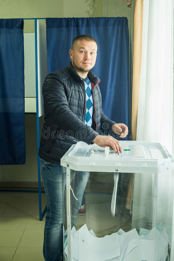 Elections to the State Duma of the Russian Federation 18 September 2016 in the Kaluga region. State Duma elections are considered an important event in the stock photo