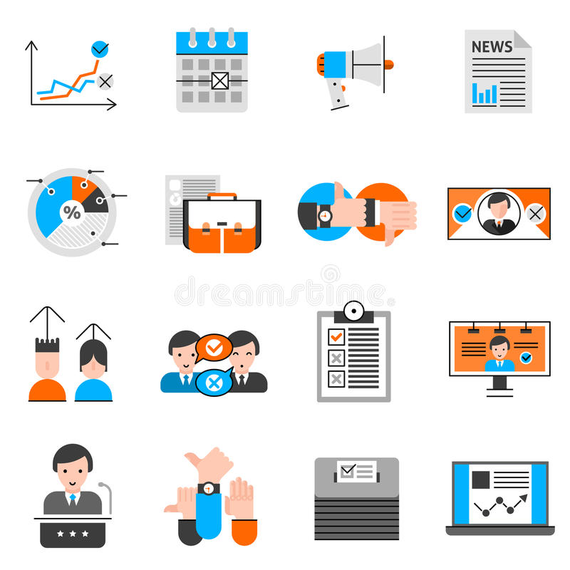 Elections And Voting Icons Set vector illustration