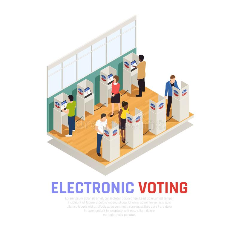 Elections Isometric Composition vector illustration