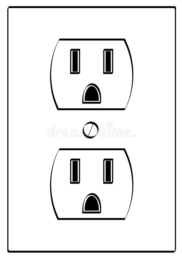 electiral outlet royalty free stock photo