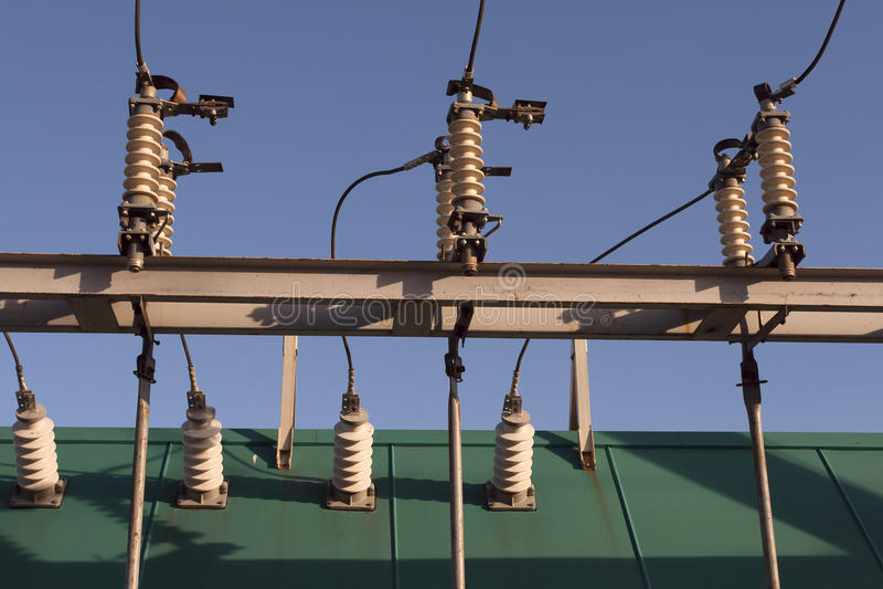 electirical transformator arkivfoto