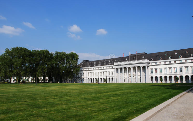 Elector's Palace In Koblenz, Germany. The Electoral Palace (German: Kurfürstliches Schloss) in Koblenz, Germany, was the residence of the last Archbishop and stock photos