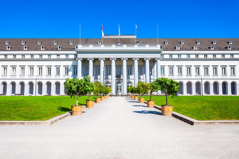 Electoral Palace Kurfurstliches Schloss, Koblenz. Electoral Palace or Kurfurstliches Schloss was residence of last Archbishop and Elector of Trier in Koblenz royalty free stock photos