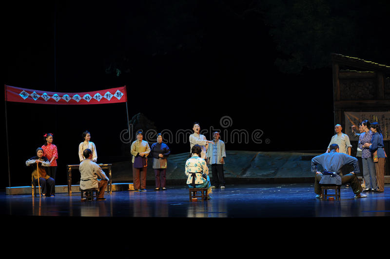 The electoral roll- Jiangxi opera a steelyard. Jiangxi opera a steelyard is adapted from a true story: the last century fortys, the protagonists father runs an stock photography