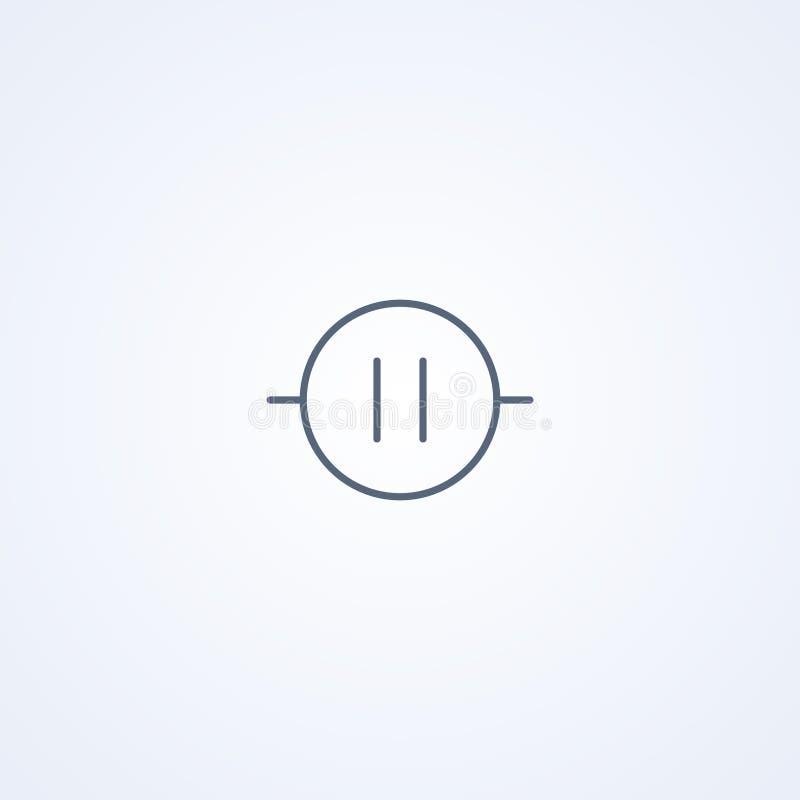 Electrómetro, la mejor línea gris símbolo del vector libre illustration