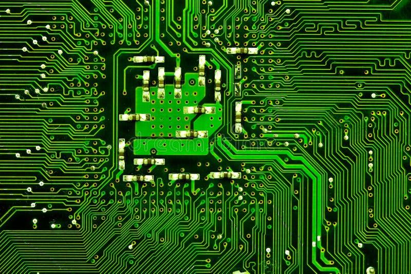 Electrónica de la tarjeta de circuitos foto de archivo libre de regalías