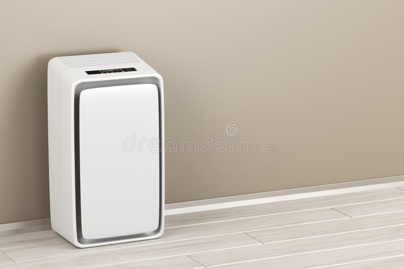 Electric air purifier. In the room stock illustration