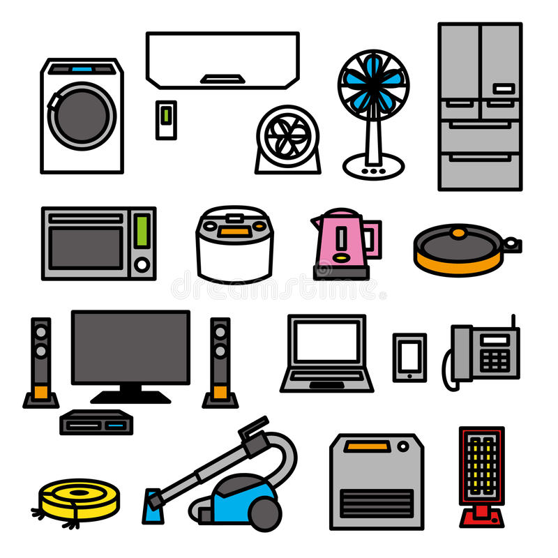 Electric appliances 01 royalty free illustration