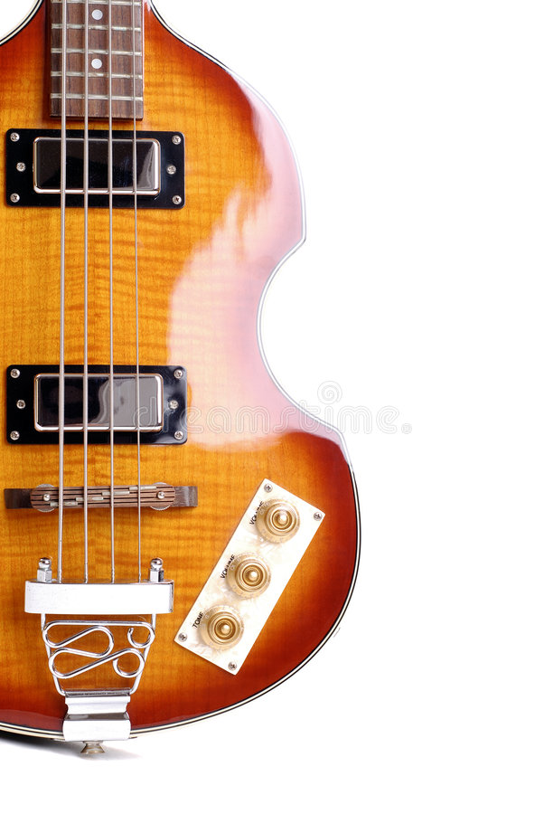 Electric Bass Guitar royalty free stock photo