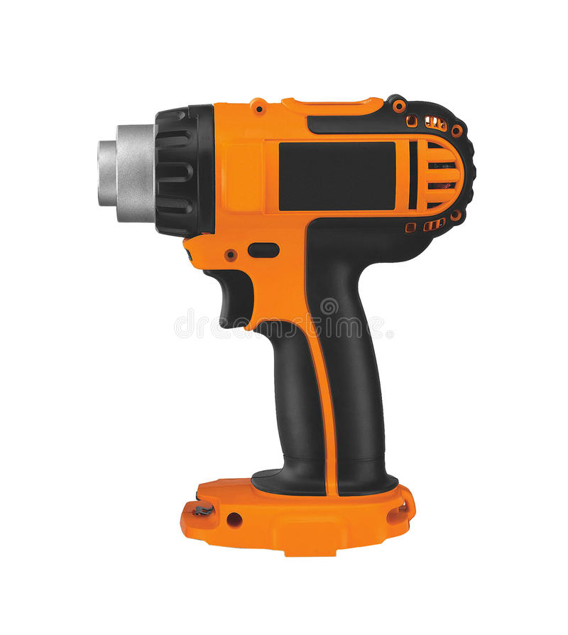 Electric battery powered impact wrench. Isolated on white background stock photography
