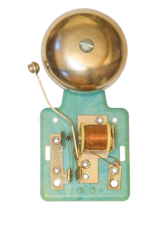 Electric bell stock image
