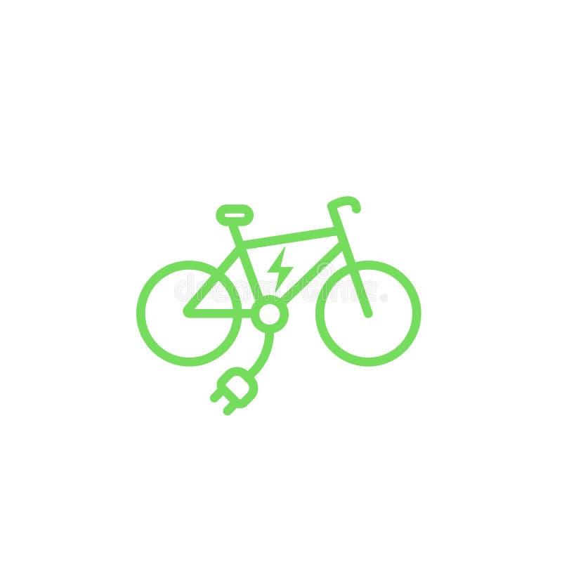 Electric bike icon, e-bike stock illustration
