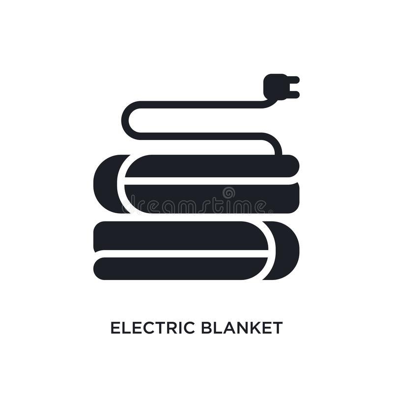 Electric blanket isolated icon. simple element illustration from electronic devices concept icons. electric blanket editable logo. Sign symbol design on white vector illustration