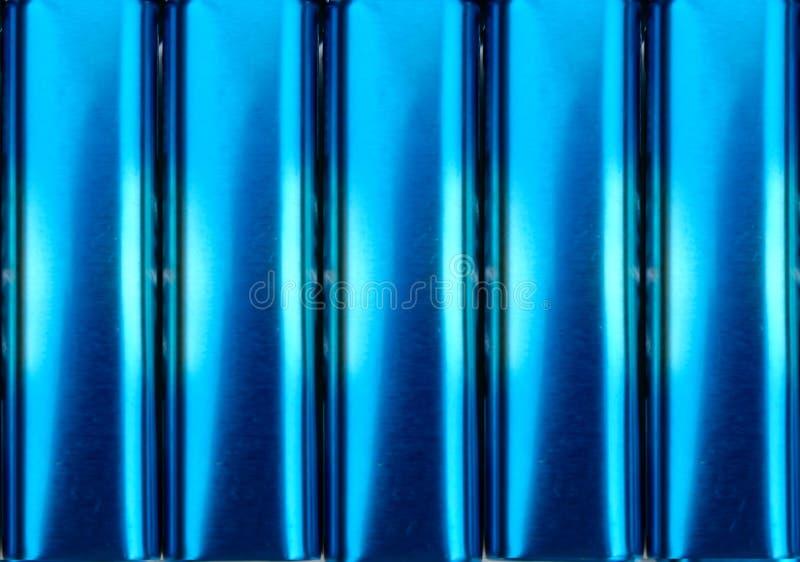 Electric blue metal tins