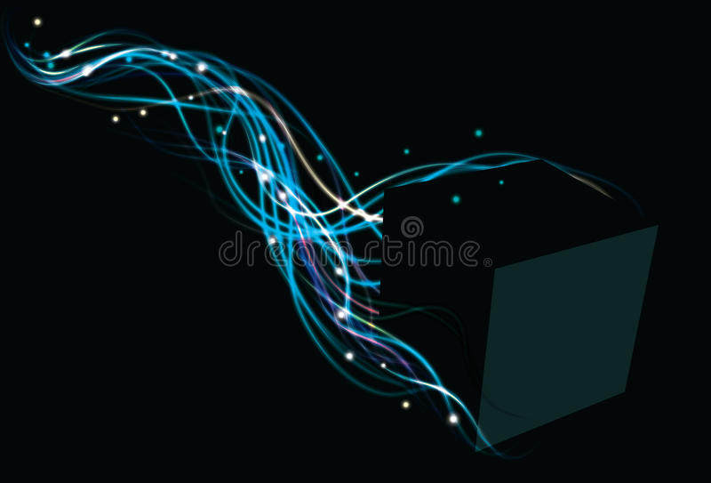 Electric box background royalty free illustration