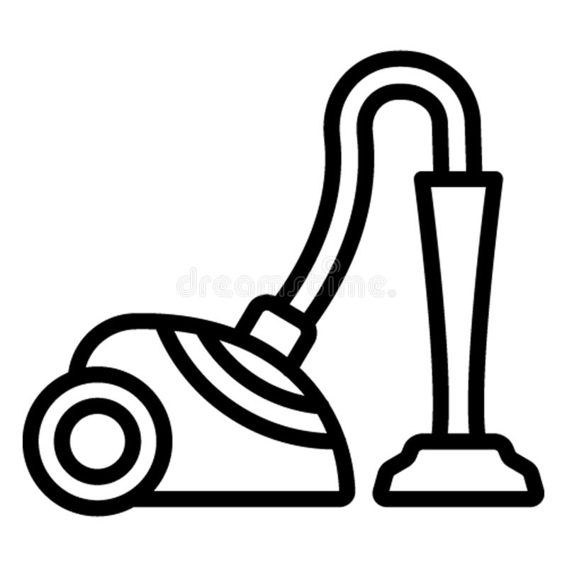 Electric broom ,Hoover Vector Icon which can easily edit vector illustration