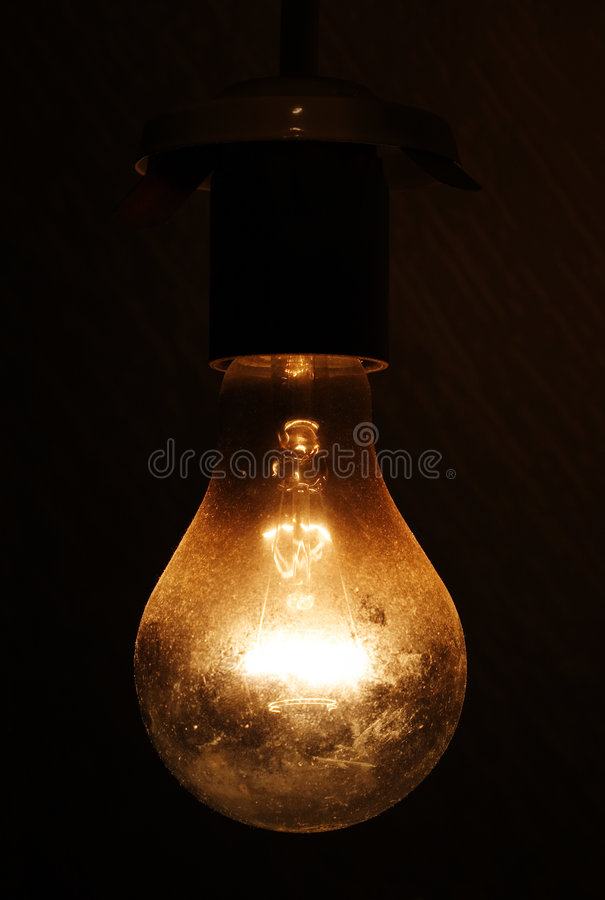 Electric bulb. royalty free stock photography