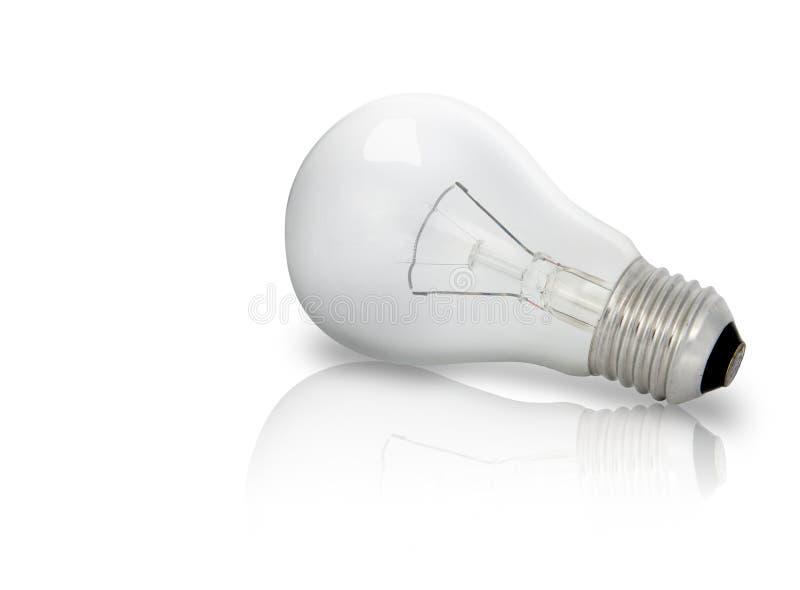 Electric Bulb. On white background (illuminate on head royalty free stock photography