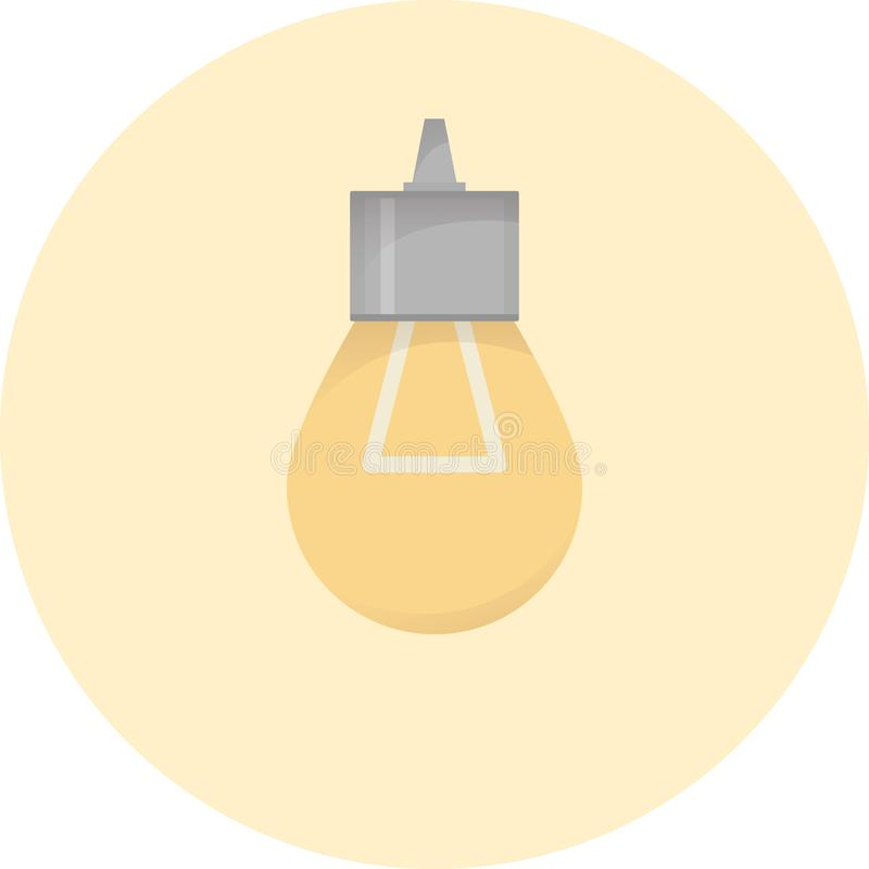 Electric bulb icon, lighting buld, electricity system lamp, vector illustration. Electric bulb icon, lighting buld, electricity system lamp, semi flat vector stock illustration