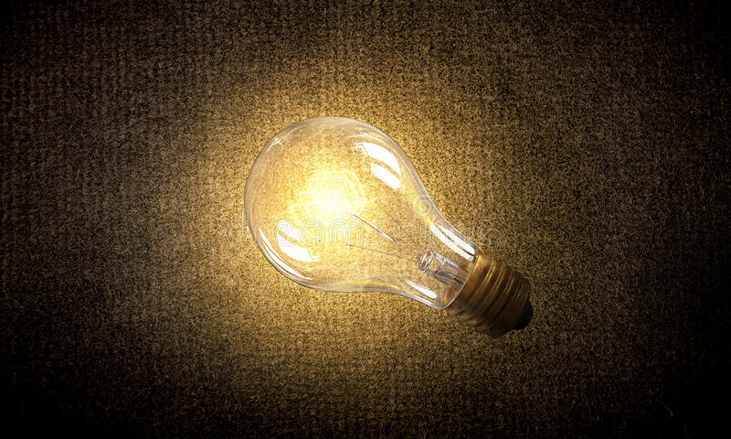 Download Electric Bulb On Texture Mixed Media Stock Image