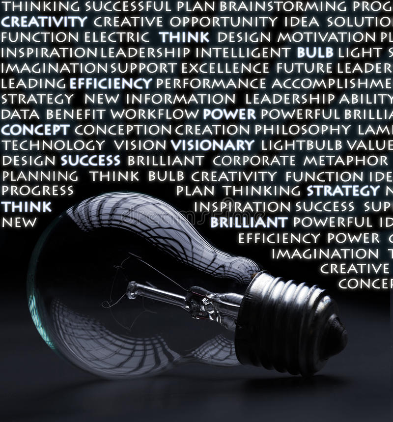 Free Electric Bulb With Creativity Words Stock Photo - 23714470