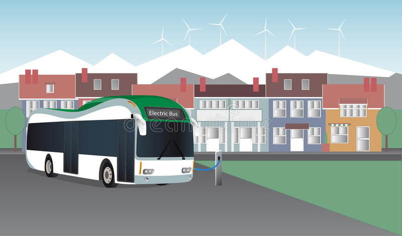 The electric bus stock illustration