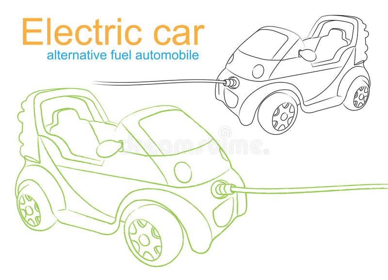 Electric Car Stock Images