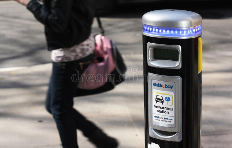 Download Electric Car Charging Point Editorial Stock Photo - Image of strategy, electric: 18688693