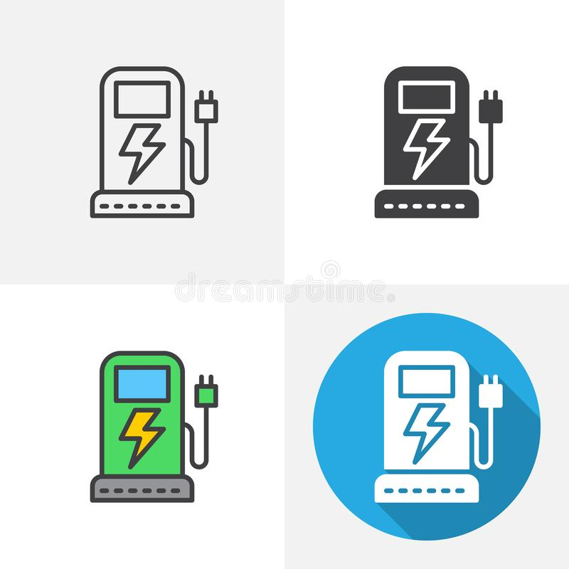 Free Electric Car Charging Station Icon Royalty Free Stock Image - 146475326