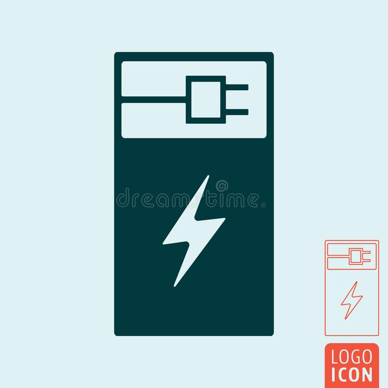 Electric Car Charging Station Icon Stock Vector Illustration Of
