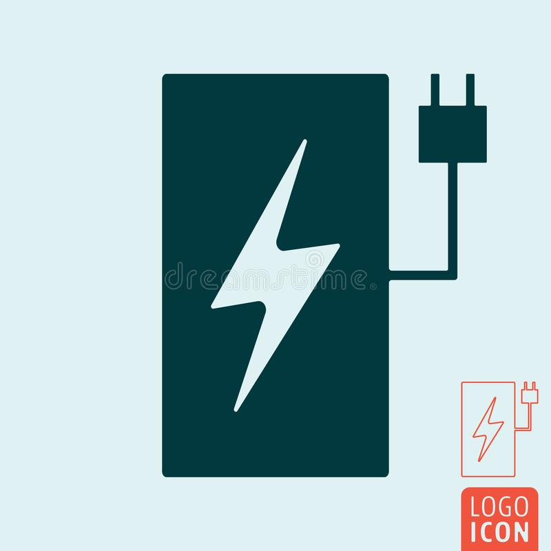 Electric Car Charging Station Symbol Stock Vector Illustration Of
