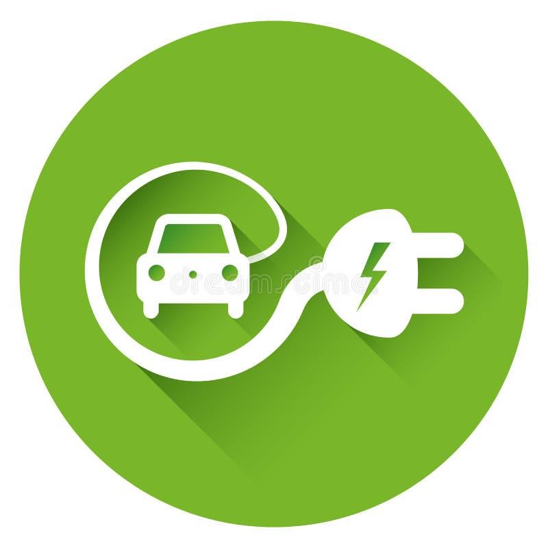 Electric car illustration stock illustration