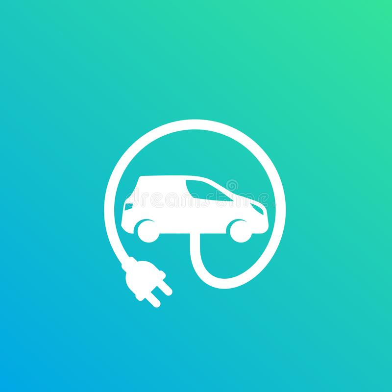 Free Electric Car With Plug, EV Vector Royalty Free Stock Photo - 142096385