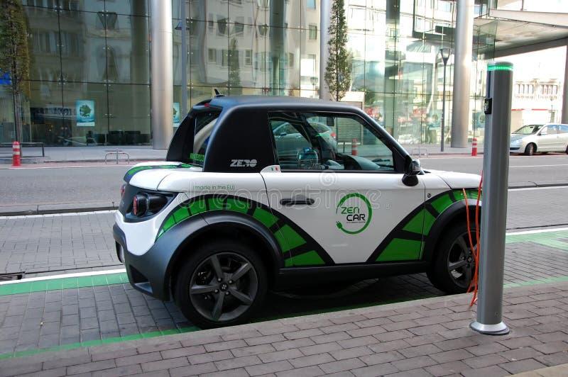 Electric car of Zen Car company stock image