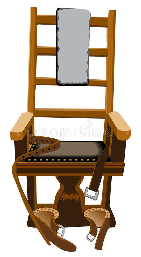 Electric chair stock vector illustration of horror - Chaise electrique fally ipupa ...