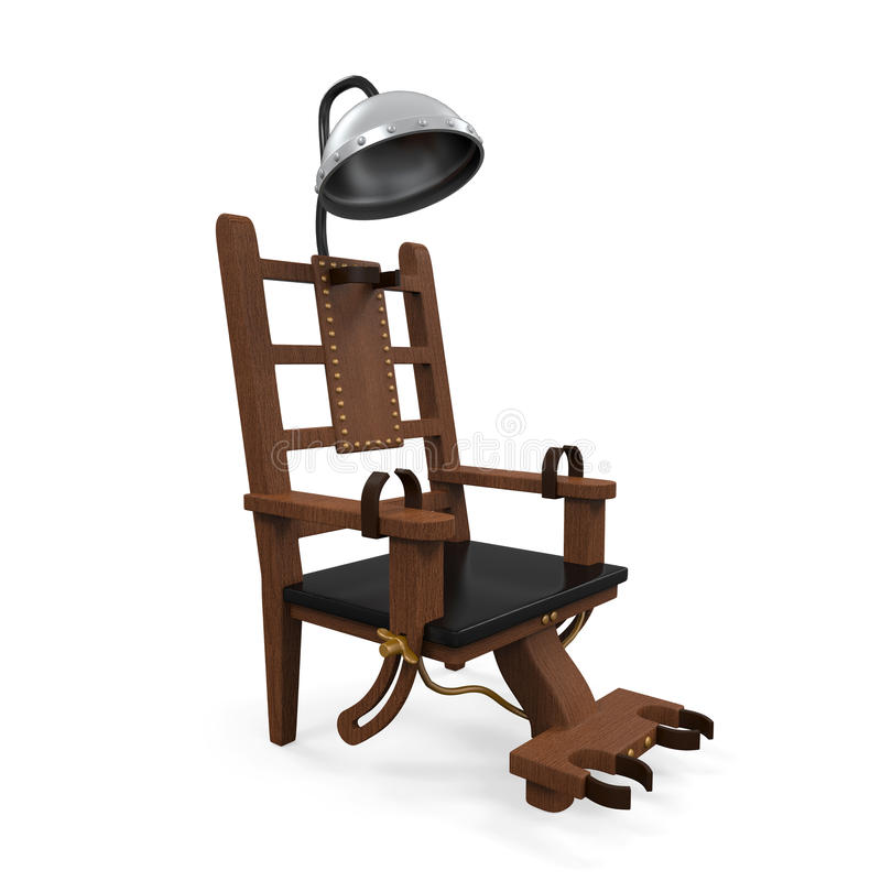 Electric chair isolated stock illustration illustration - Execution chaise electrique video ...