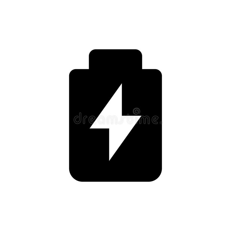 Electric charge icon. Power sign stock photography