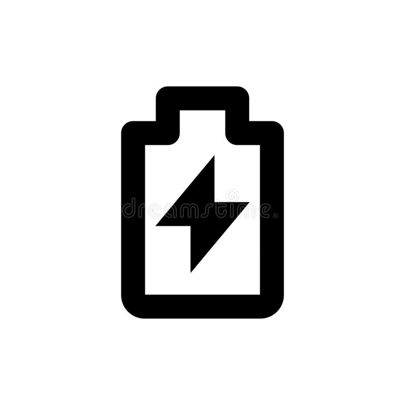 Electric charge icon. Power sign royalty free stock photo