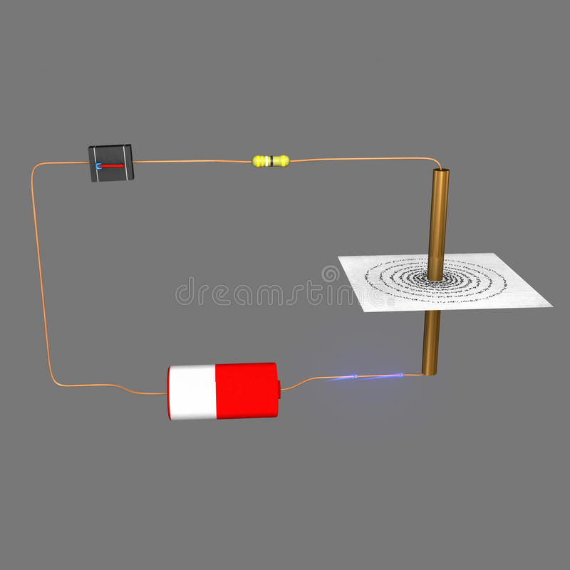 Electric circuit vector illustration