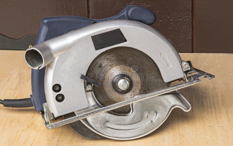Electric circular saw . stock images