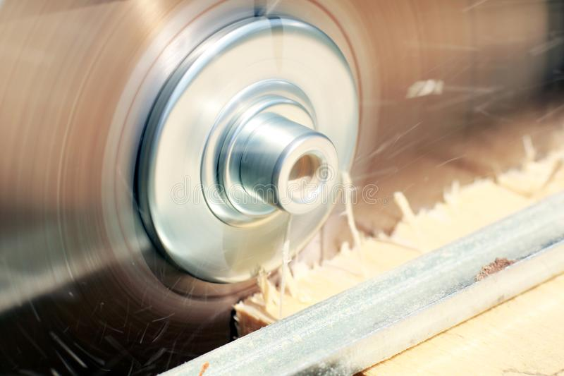 The circular saw. Electric circular saw for a wood cut stock image