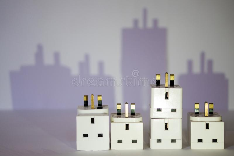 Electric city royalty free stock images