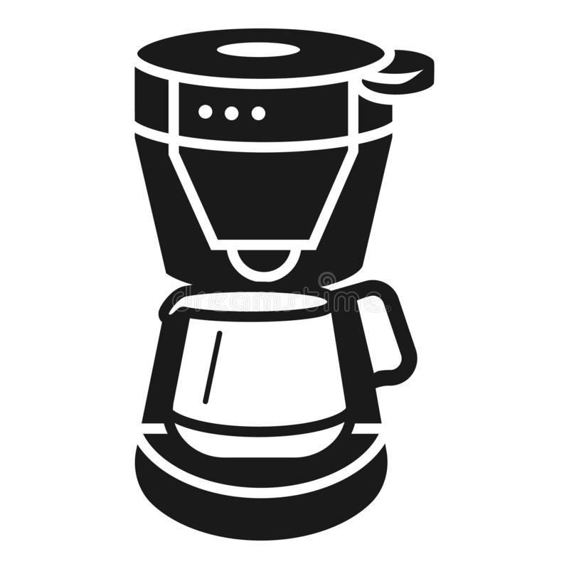 Electric coffee machine icon, simple style royalty free illustration