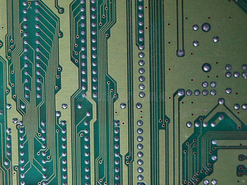 Electric Computer Chip royalty free stock image
