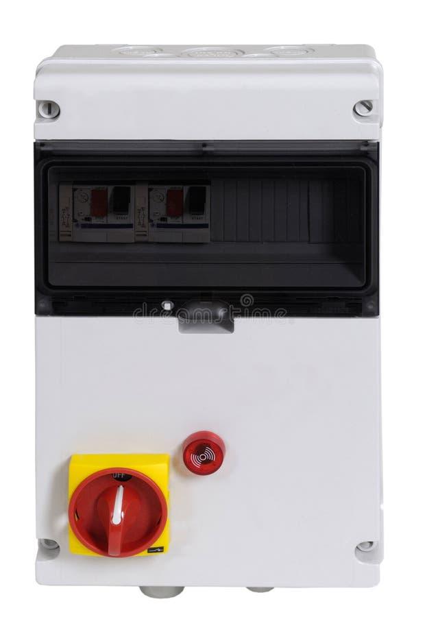 Electric control box on white stock photo