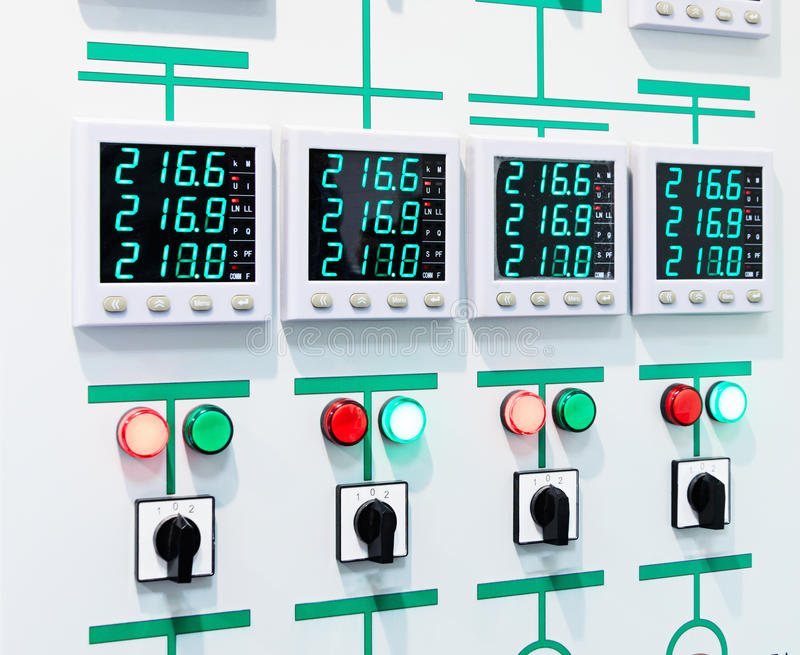 Electric Control Panel With Digital Display Stock Photo - Image of ...