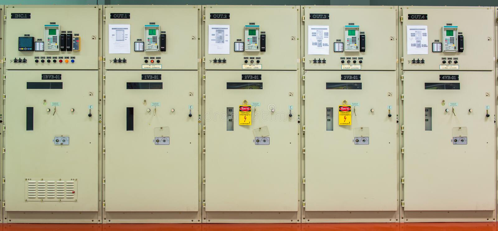 Controller Switch At The Power Station Stock Image Image