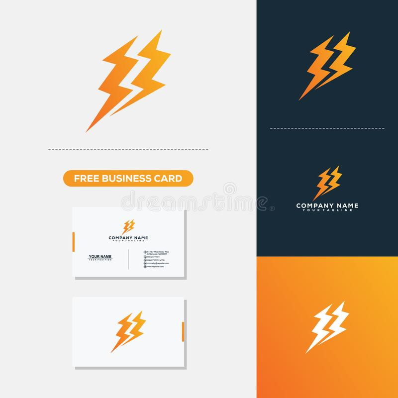 Electric Creative Logo and Business Card Design. Creative Logo and Business Card Design vector illustration