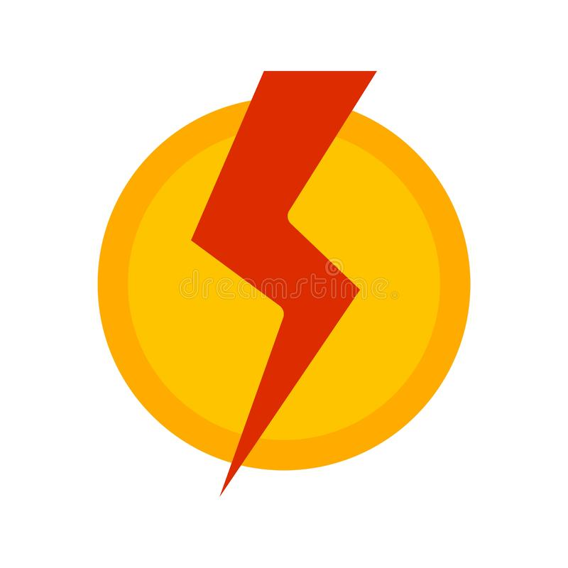 Electric Current. Electric, current, bolt icon image. Can also be used for Industrial Process. Suitable for mobile apps, web apps and print media royalty free illustration